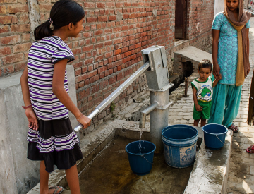 Clean water to others through the Gospel for Asia.